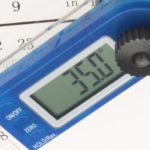 Metriks Digital Goniometer close up reading